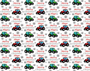 personalised christmas wrapping paper tractors a ebay