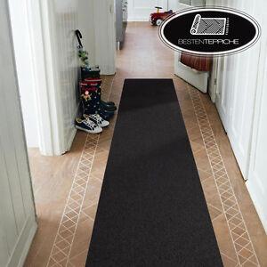 Moderne-Laeufer-schwarz-Teppich-Korridor-Flur-Diele-Breite-50-60-70-80-90-100-120