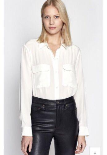 Equipment Femme Slim Signature Silk Blouse Pockets