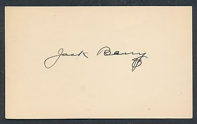 1908 JACK BARRY Vintage Baseball Signed Index Card (D. 1961) JSA!