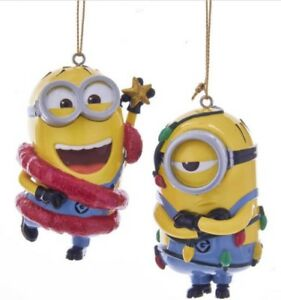 Despicable Me PHIL and MEL Minions ORNAMENTS Christmas ...