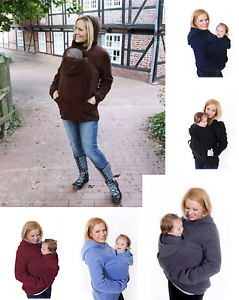 MANY-COLOURS-BABYWEARING-VEST-LONG-SLEEVE-FLEECE-HOODIE-GREAT-FOR-AUTUMN-S-3XL