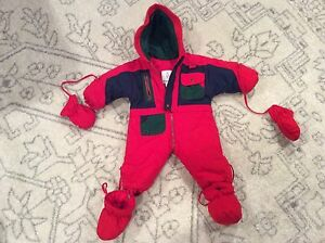 de3afd4e1 LONDON FOG ONE PIECE SNOWSUIT RED