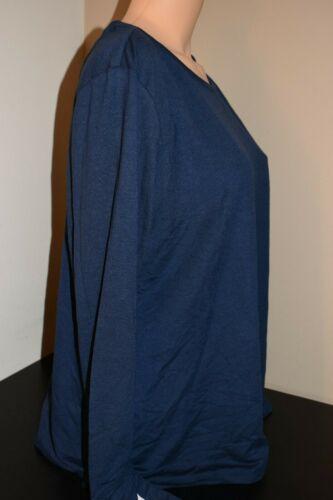 Ideology Active Wear Crochet-Back Calm Indigo Sea 100052750WN Sz Plus 2X