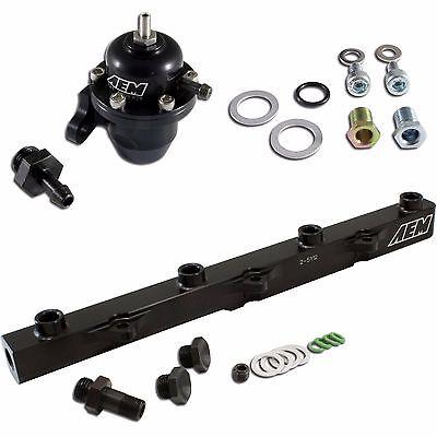 AEM Adjustable 90 Fuel Pressure Regulator F20C F22C S2000 F23 Accord D16