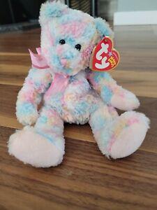 """TY Beanie Baby Twirls the Bear 2004 Stuffed Animal Toy 8"""""""