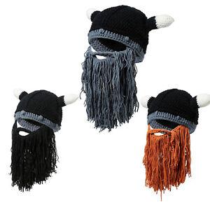 Men Winter Warm Beanies Beard Hat Mustache Face Mask Crochet Ski Cosplay Caps