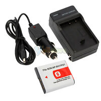 NP-BG1 FG1 Battery +Charger For Sony CyberShot W120 W90