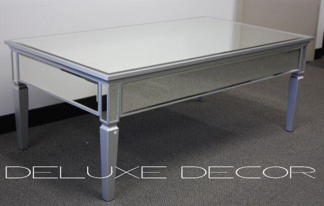 BRAND NEW Silver Edge Silver Mirror Mirrored Coffe Table 2306S