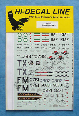 Hi-Decal 1/48 McDonnell Douglas F-4D Phantom II Decal | eBay