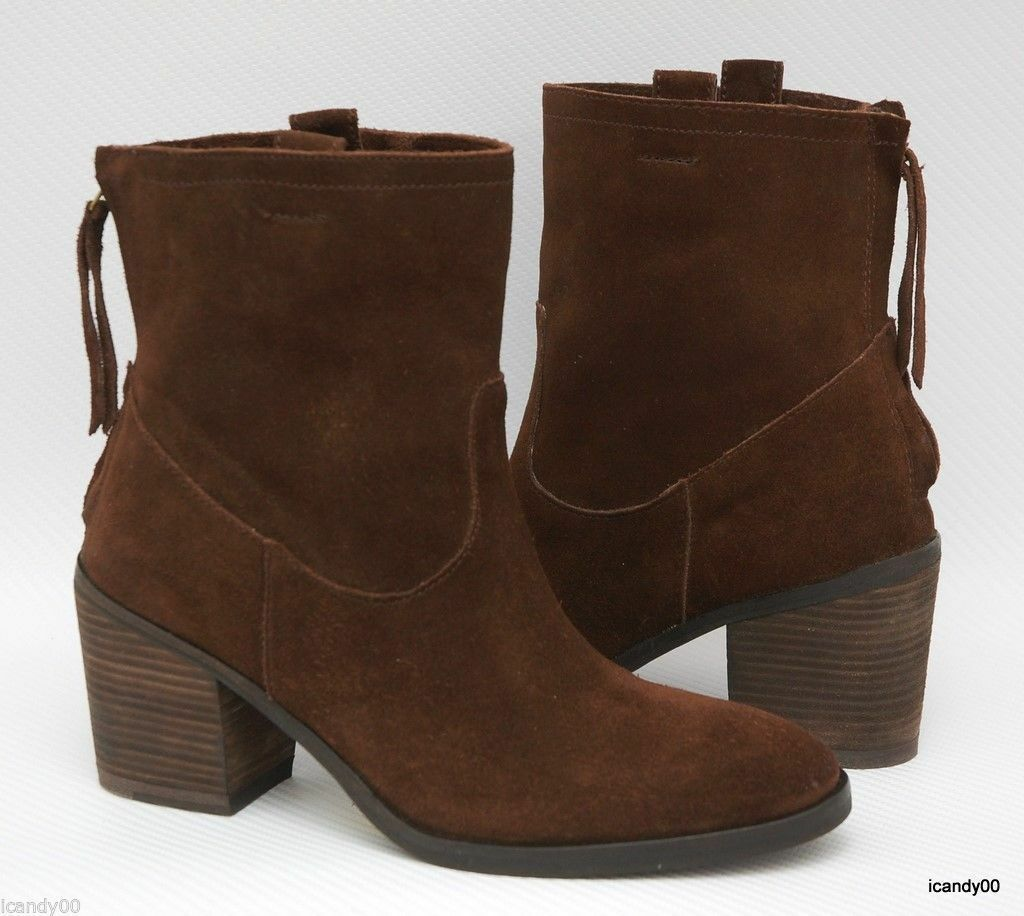 New Sam Edelman FARRELL Distressed Suede Leather Ankle Boot Bootie Brown 6