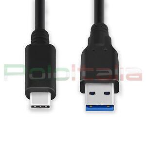 Cavo da 0 a 3m USB 3.1 type C tipo 3.0 carica batteria per Samsung S9 Huawei P20