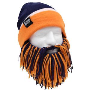 1c32769ea5fa2 Denver Broncos Navy Blue Orange Knit Football Beard Ski Face Mask ...