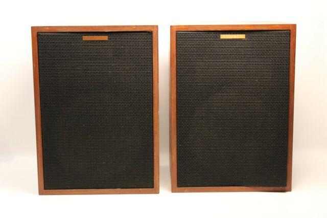 1980 Vintage Pair Of Klipsch HBR Heresy Speakers Birch Wood