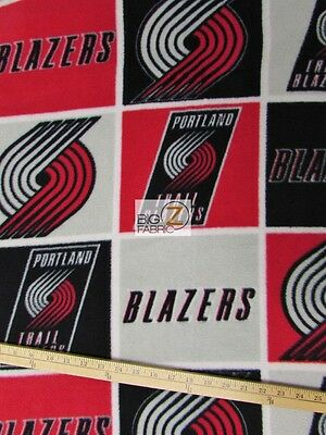 "NBA PORTLAND TRAIL BLAZERS BY EUGENE TEXTILES FLEECE PRINTED FABRIC 60/"" WIDE 806"