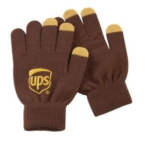 Details about UNITED PARCEL SERVICE UPS BROWN GOLD TECH ACRYLIC TOUCHSCREEN  COMPATIBLE GLOVES