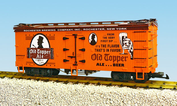 USA Trains G Scale R16390 OLD TOPPER ALE - ORAN BC RED Reefer