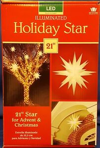 image is loading lighted outdoor christmas star led 21 034 illuminated