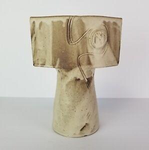 Ikebana-Vase-Studio-Pottery-Pedestal-Tall-Flower-Floral-Contemporary-Russell