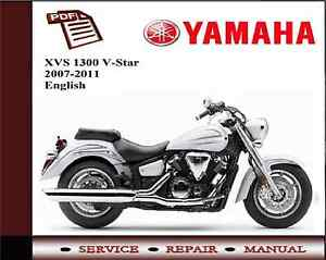 yamaha xvs1300 v star 2007 2011 service repair workshop manual ebay rh ebay co uk 2007 yamaha v star 1100 service manual free download 2007 road star 1700 service manual