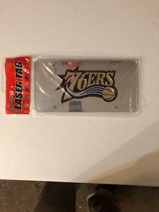 NBA-Philadelphia-76ers-Basketball-Mirrored-Logo-License-Plate-NEW