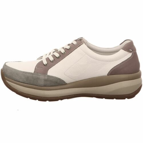 Joya Berlin II White Plum Womens Leather Comfort Low Profile Trainers Shoes