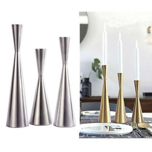 Image Is Loading Vintage Modern Metal Taper Candlestick Candle Holder Table