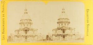 Francia-Parigi-Invalidi-Foto-PL61Ln-Stereo-Vintage-Albumina-Ca-1870