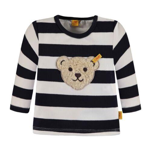 56-74 NEU STEIFF Sweatshirt blau gestreift mit Teddykopf Gr