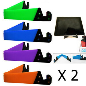 2 Pc Cell Phone Stand Tablet Desk Table Holder Folding Mount Cradle Dock iPhone