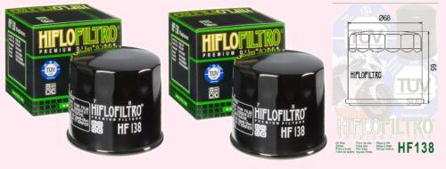 2x HF138 Oil Filter for Suzuki DL DL650 /& DL1000 V VStrom  V-Strom 2002 to 2018