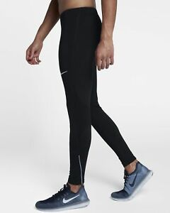 Homme Nike Power Therma Tight Running Training Leggings Pantalon De Survêtement Petit (s) Noir-afficher Le Titre D'origine Moins Cher