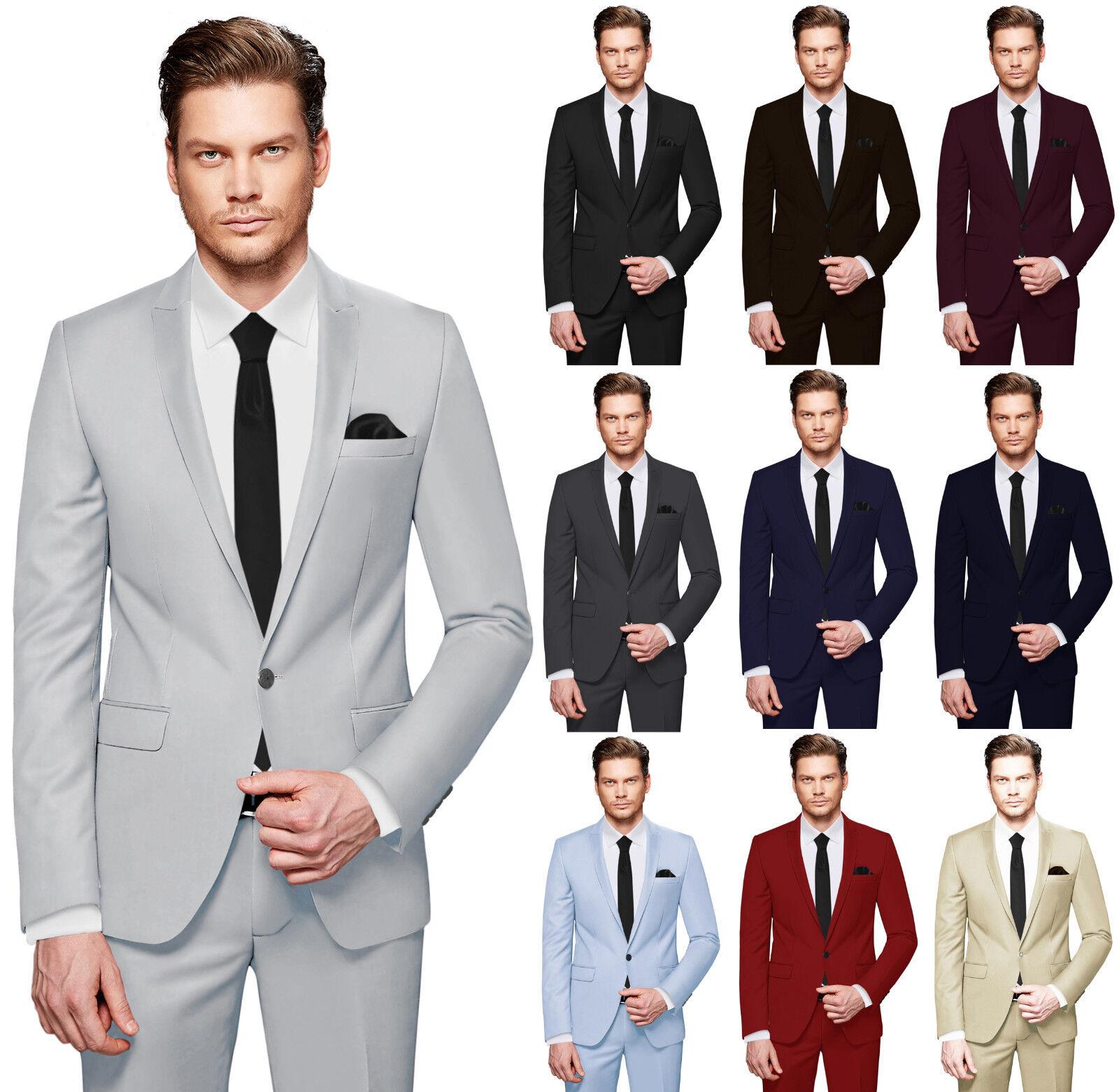 Crixus Men's Suit - 3 Piece Set - Slim Fit Tuxedo Wedding Business Cs _