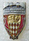 PINS insigne SAPEURS POMPIERS DE MONACO Original DRAGO vintage hauteur 16 mm