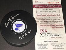 Scotty Bowman St Louis Blues Autographed Signed Hockey Puck JSA WITNESS HOF 91