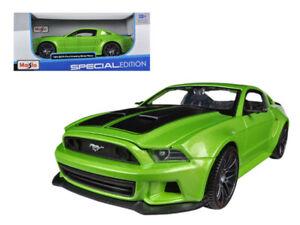 2014-Ford-Mustang-Street-Racer-Verde-Met-1-24-Diecast-Modelo-por-Maisto-31506grn