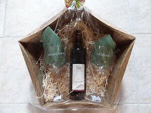geschenk set 2 rotwein gl ser mit kostenl gravur 1flasche geschenk hochzeit ebay. Black Bedroom Furniture Sets. Home Design Ideas