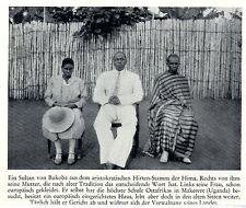 Ostafrika * Uganda *  Hima- Sultan von Bukoba *  Bilddokument um 1938