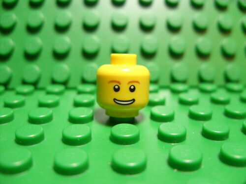 LEGO New head - smiling face, teeth showing