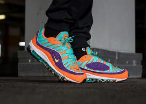 6b835e10bd Nike Air Max 98 Cone size 9. 924426-800. orange purple teal. 97 2018 ...