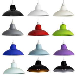 Rétro Lampe Plafond Shade Simple Coupe Métal Pendentif Abat-jour Industriel Cuisine-afficher Le Titre D'origine