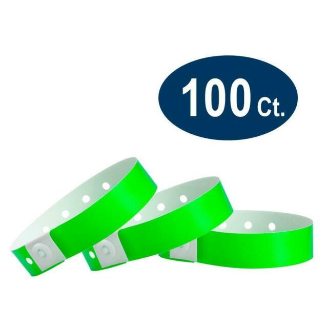 Holo Holographic Wristbands 200 Pack Plastic Male Female Clasp L-Shape L Circle