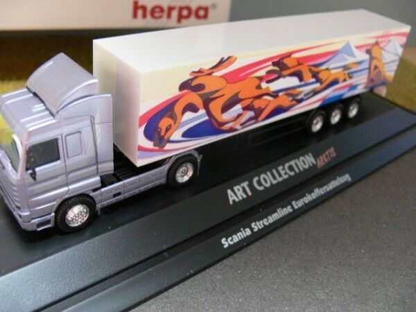 1 87 Herpa PC Scania Streamline Koffer-Sattelzug 045155  | Garantiere Qualität und Quantität
