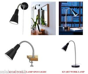 ikea kvart mur pince ou travail lampe r glable bras. Black Bedroom Furniture Sets. Home Design Ideas