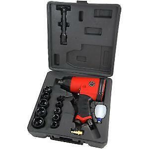 "CT0680 17pc Heavy Duty 1//2/"" Inch Air Impact Wrench Gun 9-27mm Sockets Set"