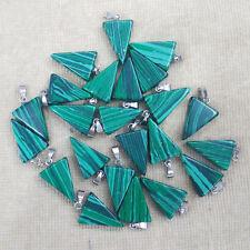 Hot sale malachite stone triangle shape charms pendants 50pcs/lot Wholesale free