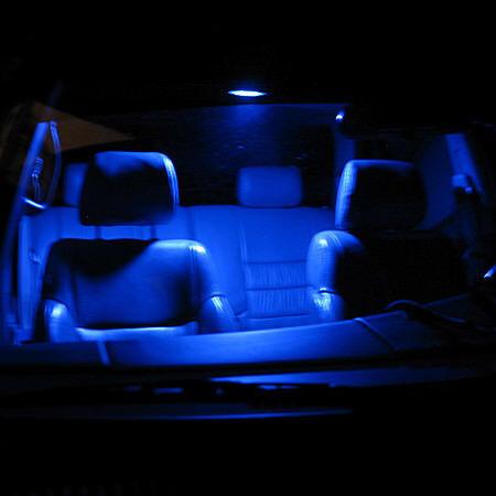 2 ampoules à LED  w5w T10 Bleu veilleuses éclairage intérieur plafonnier