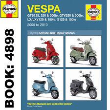 Vespa GTS GTV LX S 125-300cc Scooter 2005-14 Haynes Workshop Manual