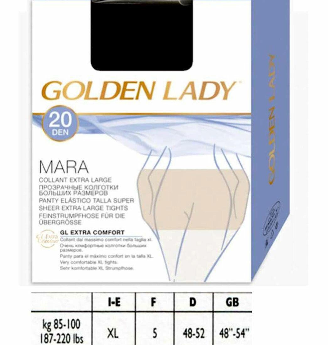 20 Strumpfhose Frau Golden Lady Mara 20 XL Kalibriert Aus Klassische Nylon Art.