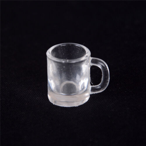 T 4 pcs 1//12 Doll house Miniature kitchen tableware plastic beer mug glass cups